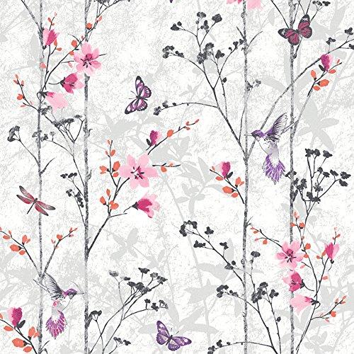 102550-novedades-eden-mariposas-rosadas-metalico-wallpaper