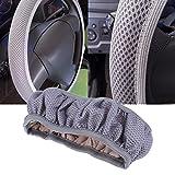 #7: Rrimin Diameter 38 cm Casual Handbrake Auto Car Steering Wheel Cover Car Decoration Auto Supplies (Gray)