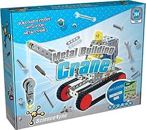 Science4you Metal Building grúa Educación y Ciencia Juguete