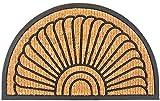 matches21 Fußmatte Fußabstreifer Kokos Muschel mit Gummirand 60x100x2,0 cm rutschfest eingeflochten
