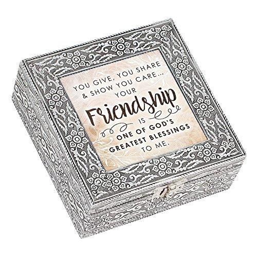 Cottage Garden Freundschaft God 's Greatest Blessing Prägung Silber 6x 6Metall Musik Box spielt wie groß DU - Tod Und Kupfer Kostüm