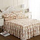 Vintage traditional Luxuriöse summer king size Bett-set Gesteppt Tagesdecke alston ausgestattet mit Rüschen, Blumenmuster, patchwork-Design cremefarben
