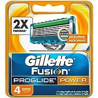 Gillette Fusion ProGlide Power - Cuchillas de recambio para maquinilla de afeitar, 4 unidades