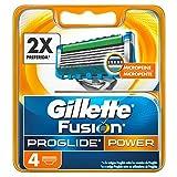 Gillette Fusion Proglide Power Lame per Rasoio da Uomo, 4 Pezzi