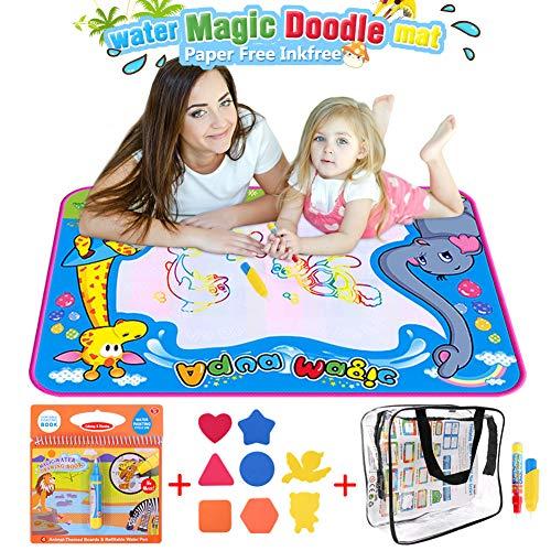 Aquadoodle Magic Malmatte, BBLIKE 50*70cm Größe Wasser Zeichnen Matte und 1 Magic Wasser-Malbuch mit 4 malmatte mit wasserstift Baby 3/4/5 Jahre alte Kleinkinder
