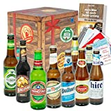 Männergeschenk | Geschenkset Bier aus aller Welt | Geschenk Weihnachten Papa