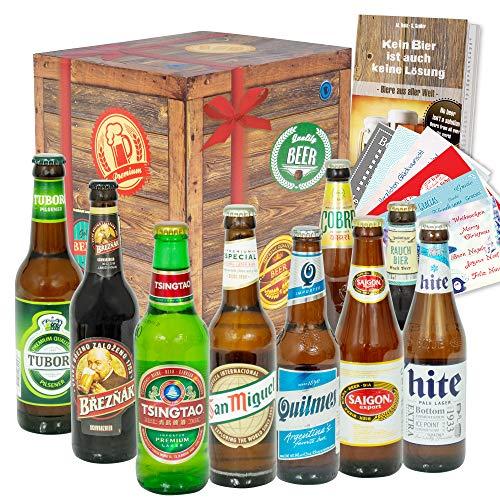 """Bier Geschenkset""""Welt und Deutschland + Bier Geschenk für Männer + Bier Box"""