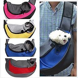 TQWMU Pet Single Shoulder Carrier Soft Mesh Pet Dog Portable Hands Free Sling Bag Head Out for Puppy Cat Rabbit Guinea Pig Pet Travel Carrier Pouch Suit for Pets