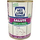 VET LINE Cibo Umido per Cani Salute al Cervo 400 gr Confezione 6 pz