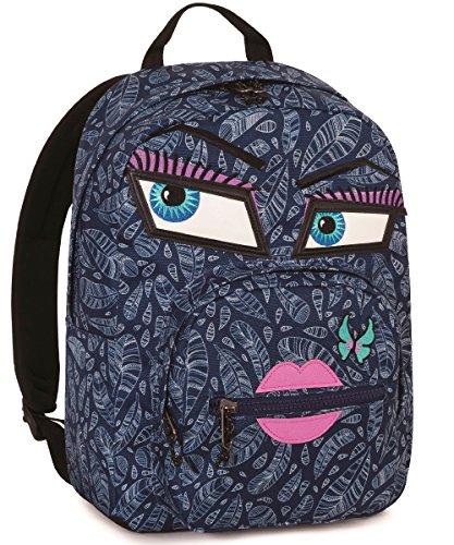 Zaino invicta , ollie pack yap , blu , 25 lt , blu , tasca per portatile  e tablet