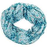ManuMar Loop-Schal für Damen | Hals-Tuch mit Blumen-Motiv als perfektes Sommer-Accessoire | Schlauch-Schal - Das ideale Geschenk für Frauen