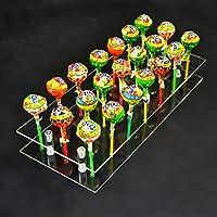 21 Hole Acrylic Cake Pop Lollipop Clear Transparent Display Stand Server Decoration Display Stand Holder Base Shelf