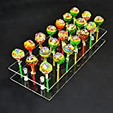 MENGCORE® 21 Hole Acrylic Cake Pop Lollipop Clear Transparent Display Stand Server Decoration Display Stand Holder Base Shelf by MENGCORE
