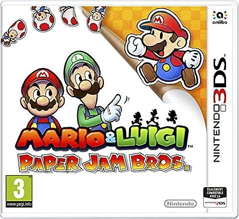 Mario Et Luigi Dream Team Bros 3ds - Mario Luigi Paper