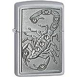Zippo 60001125 Scorpion King Emblème Briquet Laiton Street Chromé 3,5 x 1 x 5,5 cm