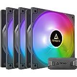Antec RGB Case Fans, 120mm Case Fan, Addressable RGB, PC Fan High Performance, 3-pin ARGB, P12 Series 3 Packs…