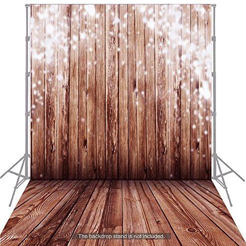 Andoer 1,5 * 2 m großen Photography Background Hintergrund klassischen Mode Holz Holzboden für Studio-Profi-Fotograf (Photo Booth Hintergrund)