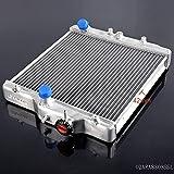 speedmotor Radiateur en Aluminium pour Honda Civic D15/16PEX/ek 233,7–0cm/Out 28mm Argent
