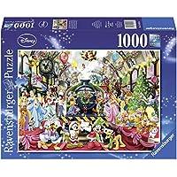Ravensburger - 19553 - Puzzle - Tous À Bord pour Noël - Disney - 1000 Pièces