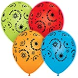 Pioneer National Latex Qualatex Q-Lite LED Light up Latex Party Pack Congratulations (24 Balloons) Supplies, Assorted, 10""