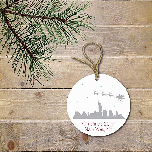 prz0vprz0v New York City Christmas Ornament, NYC Christmas Ornament, Santa, Reindeer, Personalized Christmas Ornament, Christmas Ornaments, New York