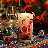 Las luces de Navidad Velas ,Vela LED Sin Llama, Vela Simplux LED Mecha y Llama Bailando 3D Llama Sin Fuego, Cera Auténtica, Velas Electrónicas Con Temporizador, De Pilas, 7,6x15,24 cm(3x6 Pulgadas)