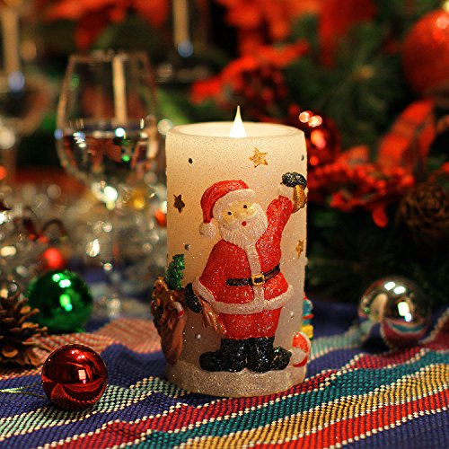 Casa Di Babbo Natale Candela.Candele Luci Di Natale Babbo Natale Shaped Senza Fiamma Della
