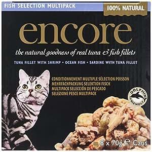 Encore Cat Food Tin Fish Multipack, 70g, Pack of 4 x 8 x 70g
