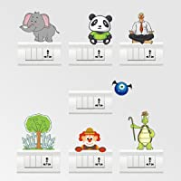 Rawpockets Color Switch Board Combo No.24' Wall Sticker (PVC Vinyl, 15 cm x 15cm, Set of 7)