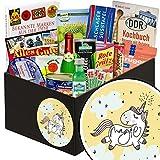 Einhorn | DDR Paket | mit Gurken Snack Get One, Rotkäppchen Sekt (0,2l) und mehr | GRATIS Aufkleber - Einhorn