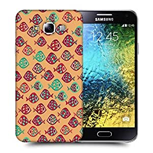 Snoogg Multicolor Fishes Printed Protective Phone Back Case Cover ForSamsung Galaxy E5