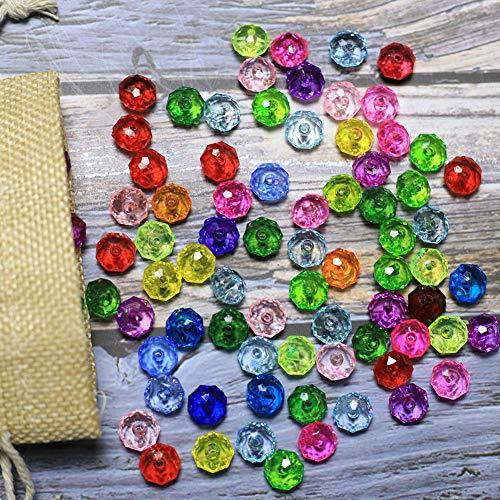 ca. 650 stück- Kristall Glas Perlen 250 Gramm EIN Set Acryl Perlen zum auffädeln Bastelperlen Schmuckherstellung DIY Halsketten Armband (glasperlen-C) ()