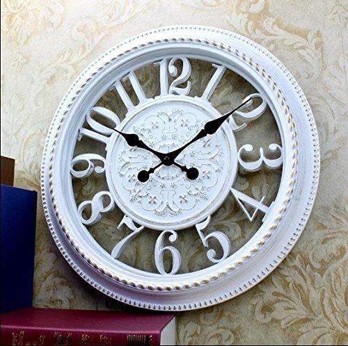 Industrial orologio da parete, classica parete cava orologio watch european fashion minimalista orologio bianco silenzioso soggiorno orologio da parete orologio da parete (dimensione : 22 pollici)