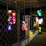 ENKO Mason Jar lumières solaires, LED String Lights lumières suspendues pour jardin, Patio, Outdoor Party