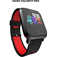 Noise ColorFit Pro Fitness Watch/Smart Watch/Activity Tracker/Fitness Band with Colored Display Waterproof,Heart Rate Sensor, Call & Notification Alert with Music Control Features (Sport Red Black)