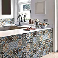 15 (Piezas) Adhesivo para Azulejos 20x20 cm - PS00140 - Varsavia - Adhesivo Decorativo para Azulejos para baño y Cocina - Stickers Azulejos - Collage de Azulejos