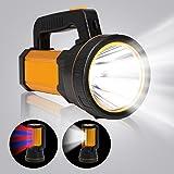 MAYTHANK Lampe Torche Led Ultra Puissante USB Rechargeable Lampe de Poche,Grande 4 batterie 10000mah Super Brillante Haute 60