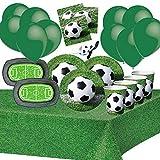Générique Football Anniversaire Enfant Garçon Party Foot Set Vaisselle Nappe Assiette Gobelets Ballons Serviette