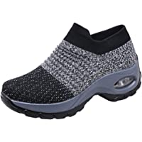Womens Trainers Lightweight Athletic Walking Mesh Sneakers Running Gym Fitness Shoes Breathable Casual Comfortable Slip…