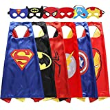 Easony Christmas Birthday Presents Gifts for 3-10 Year Old Boys, Cartoon Super Hero Satin Capes Dress up for Kids Party Favor Toys for 3-10 Year Old Boys Halloween ESUKCP06