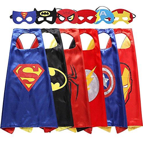 DEDY 3-10 Jahre alten Jungen Geschenke, Superhelden-Kostüm für Jungen Superhelden Capes für Kinder Jungen Spielzeug für 3-10 Jahre alten Jungen Mädchen Cartoon-Dress-up Kostüme Hot Christmas Toys 2018