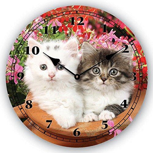 Time Kittens Wall Clock, Multi, 36 Cm Diameter