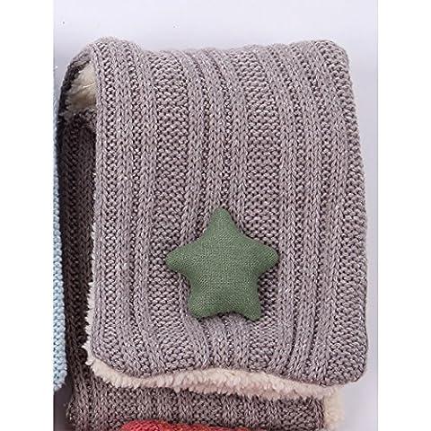 Estilo europeo otoño e invierno niños niños y niñas bebé cálido bufanda (7 colores del mismo tamaño) ( Color : C )
