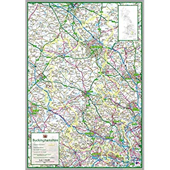 Berkshire UK County Map Paper 50 x 90 cm