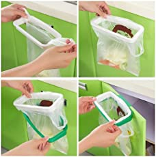 Portable Hanging Trash Rubbish Garbage Bag Holder Garbage Rack Cupboard Cabinet Storage Hanger