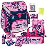 Minnie Mouse - Scooli Campus UP Schulranzen-Set 14tlg. mit Sporttasche, BROTDOSE und TRINKFLASCHE