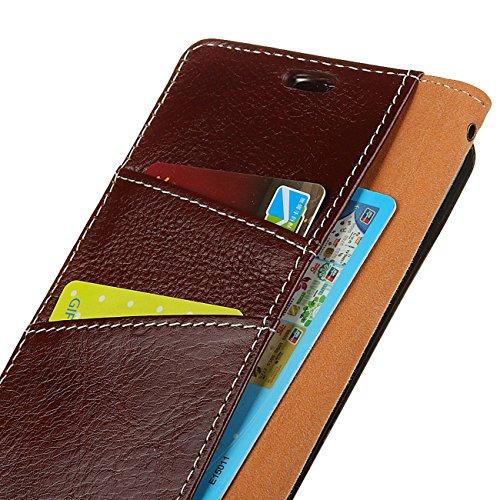 AddGuan iPhone 8/7 Plus Case,Vera Pelle Case [Slot Per Schede][Creative Foldable Stand ] [Fibbia Magnetica ]Flip Custodia Case Adatto Per iPhone 8/7 Plus Case (Nero) Marrone