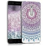 kwmobile Nokia 5 Hülle - Handyhülle für Nokia 5 - Handy Case in Blau Pink Transparent