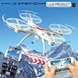 LUJII WiFi Real Time Transmission 2.4GHz 4 Channel Helicopter Quadcopter with 2pcs Batteries