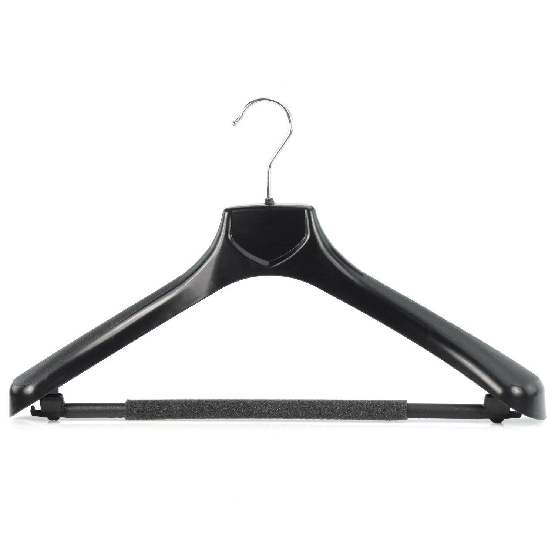 Amazon.de: 5 Schwarze Kunststoff Kleiderbügel mit rutschfestem ...